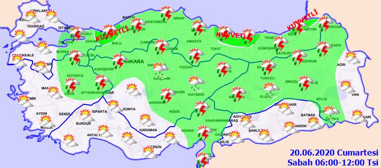 Son dakika haberi: Meteoroloji'den hava durumu yağış uyarısı yapıldı! 20 Haziran Bugün hava nasıl olacak? İşte il il hava durumu tahminleri...