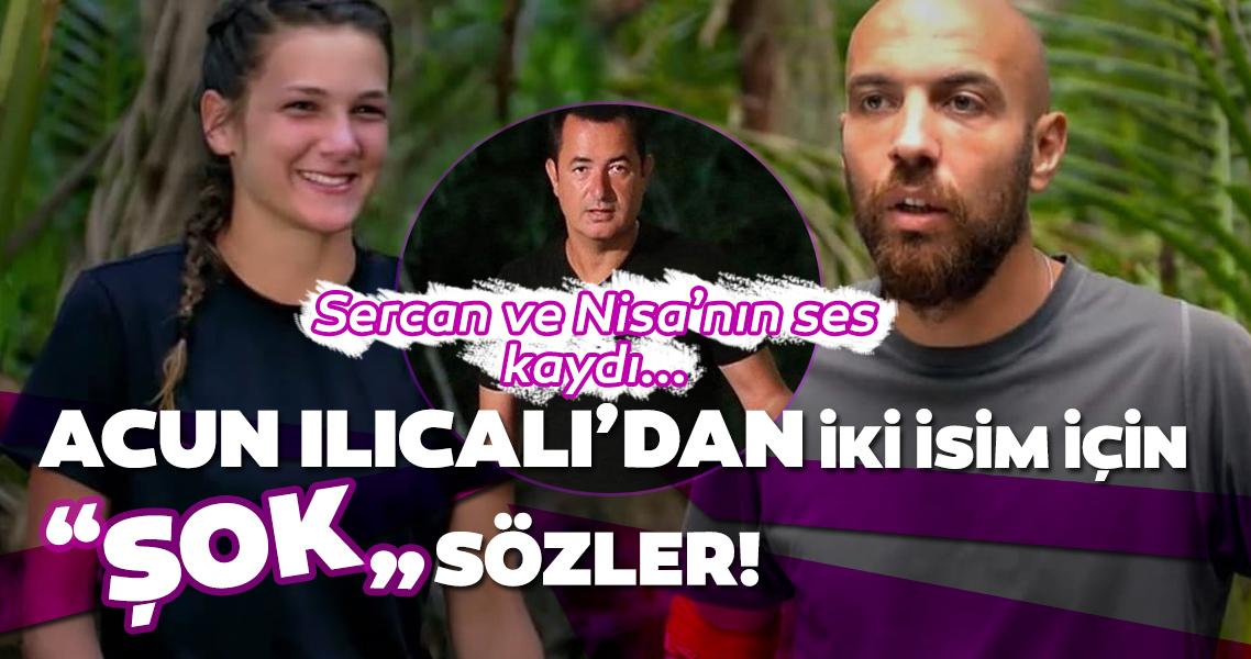 Survivor'ın gündemden düşmeyen iki ismi için son dakika açıklaması geldi! Survivor Nisa ve Sercan'ın ses kaydı içerisinde neler konuşuldu?