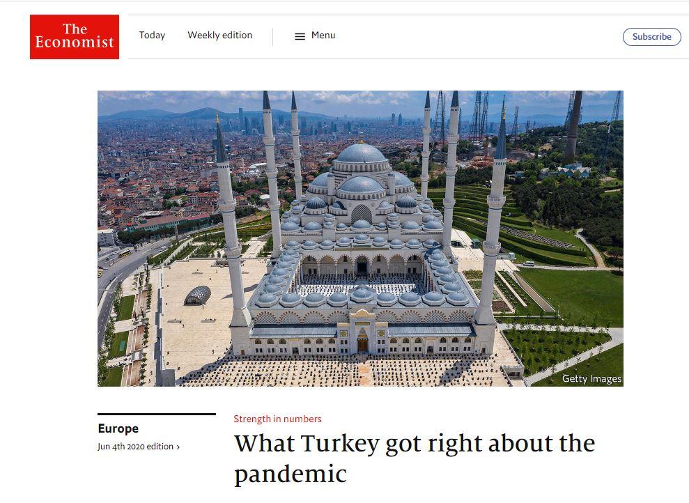 """Dünya Türkiye'nin coronavirüs ile mücadeledeki başarısını konuşuyor! The Economist: """"Türkiye, salgınla mücadelede zirveye oynadı"""""""