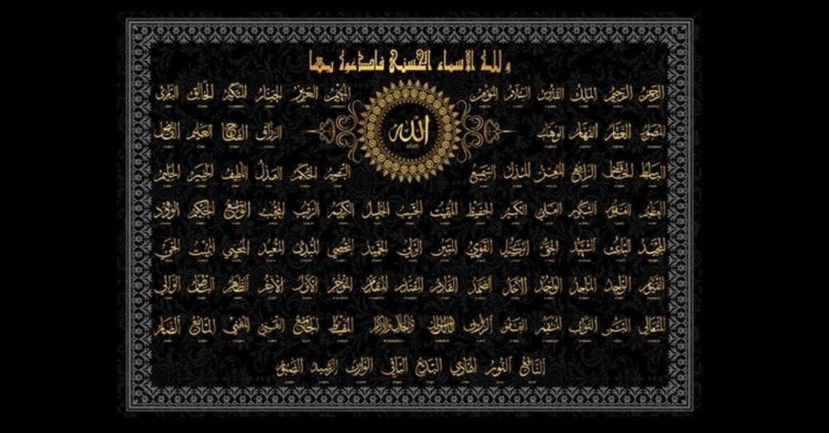 allah in 99 ismi ve anlamlari