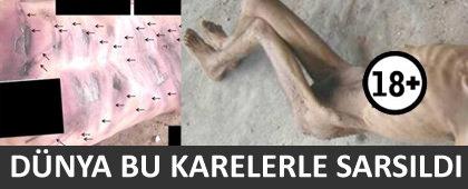 Suriye den dünyanın kanını donduran işkence fotoğrafları