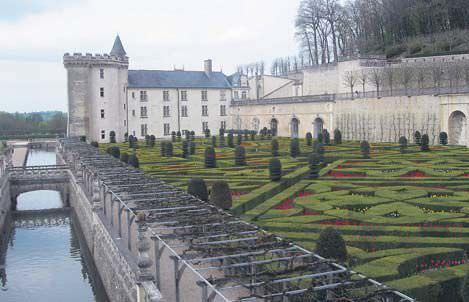 Villandry Şatosu'nun bahçesi görülmeye değer. İçinde su bahçesi, çiçek bahçesi, sebze ve baharat bahçesi bulunuyor.