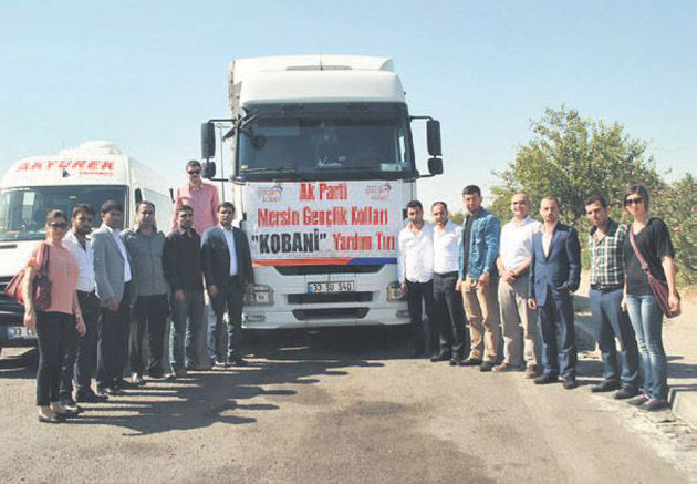 Mersin AK Gençlik'ten Kobani'ye yardım TIR'ı