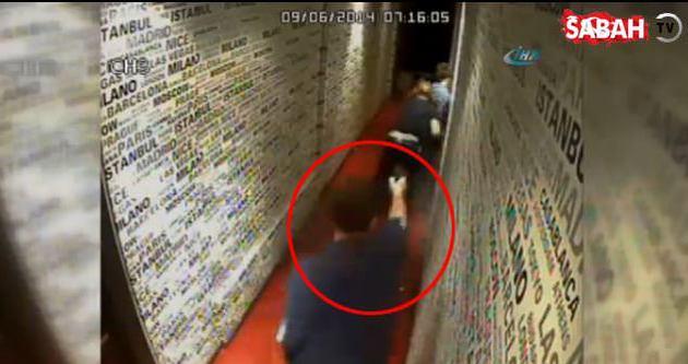 Bardaki çatışma anı güvenlik kamerasında