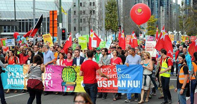 Belçika'da 'Kaktüs Plan' yürüyüşü