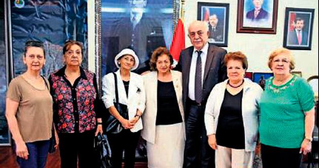 Anneler, Başkan Dingil'i ziyaret etti
