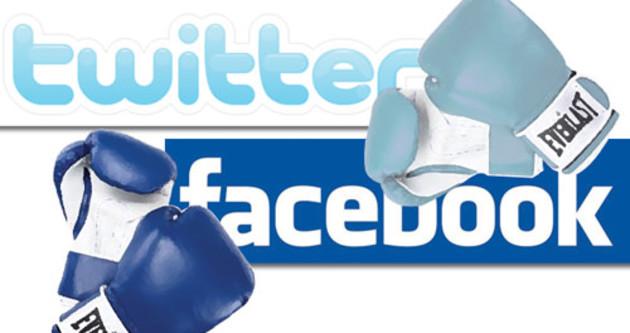 Facebook ile Twitter karşı karşıya