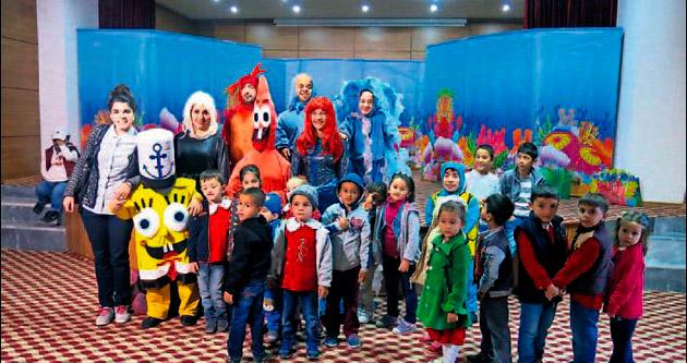 Çağlayanceritli çocuklar tiyatroyla buluştu