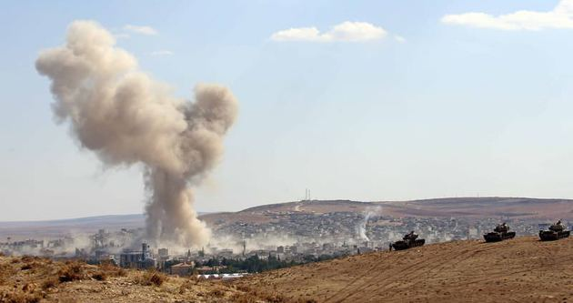 Kobani'de iç bölgelerde şiddetli çatışma