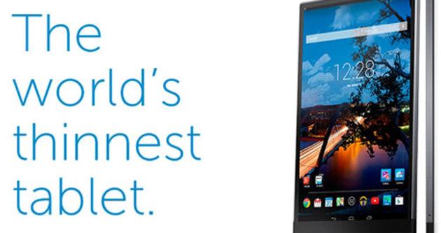 Dell'den dünyanın en ince tableti
