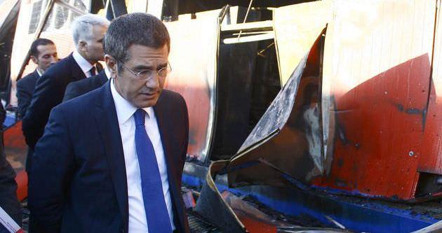 Bakan Canikli'nin konvoyunda korkutan kaza