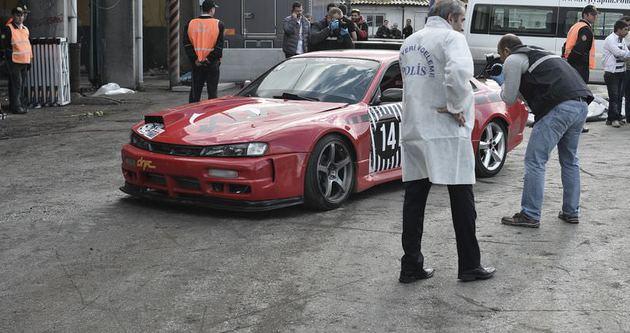 Drift yarışması kazayla sonlandı