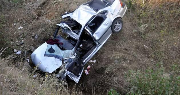 Düğün konvoyunda feci kaza