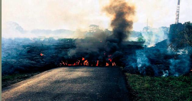 Kilauea'nın lavları kente doğru ilerliyor