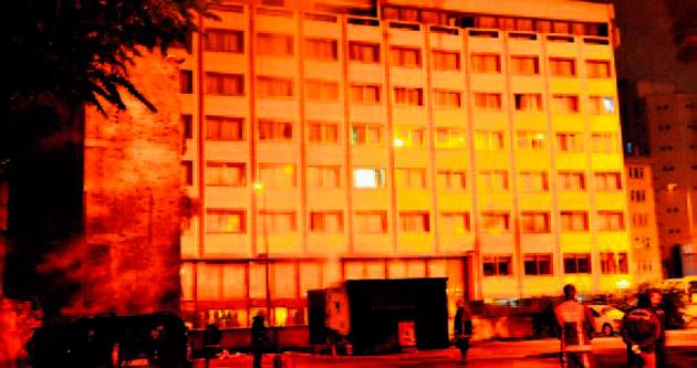 Sıhhiye'de trafo yangını