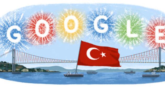 Cumhuriyet Bayramı doodle oldu. Cumhuriyet Bayramı ülke genelinde törenlerle kutlandı.