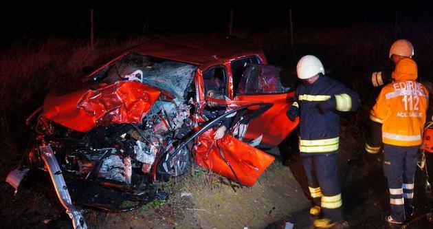 Edirne'de feci kaza: 4 ölü