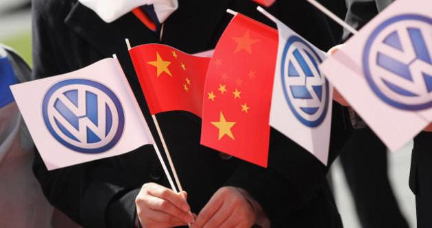 Çinliler Volkswagen'i protesto etti