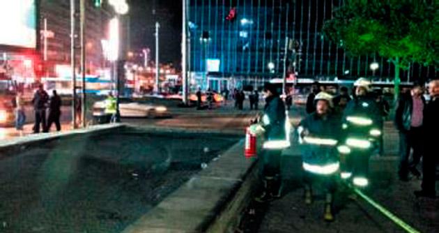 Kızılay metroda yangın paniği