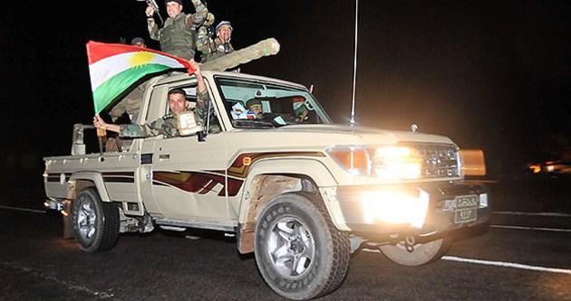 Peşmerge konvoyu Suriye'ye geçti