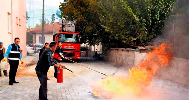 Sağlıkçılar yangına hazır