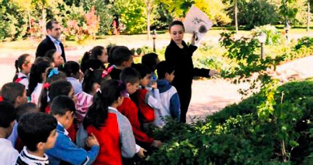 Minik öğrenciler bitkilerle tanıştı