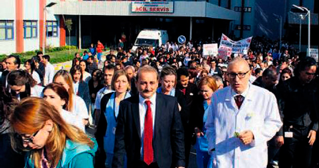 Asistan hekimler şiddeti kınadı