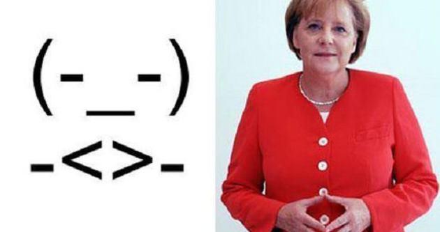 Angela Merkel'in smileyini yaptılar