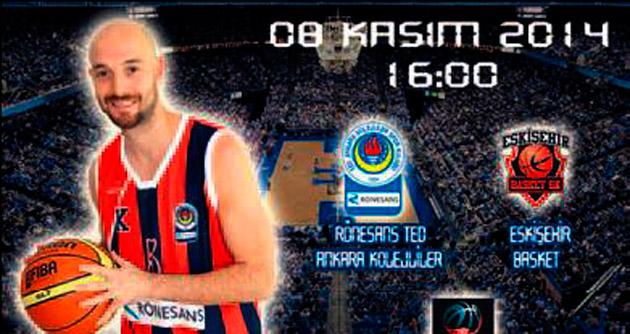 Rönesans TED Ankara Kolejliler, Eskişehir Basket'i ağırlayacak
