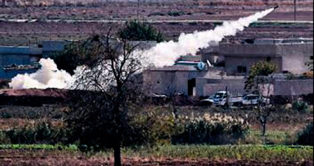 Kobani'de IŞİD füzeleri