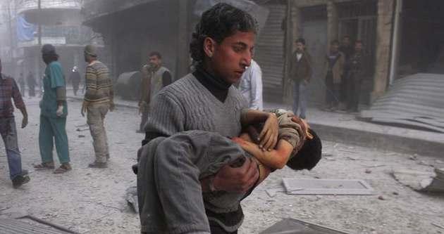 Halep'e varil bombalı saldırı