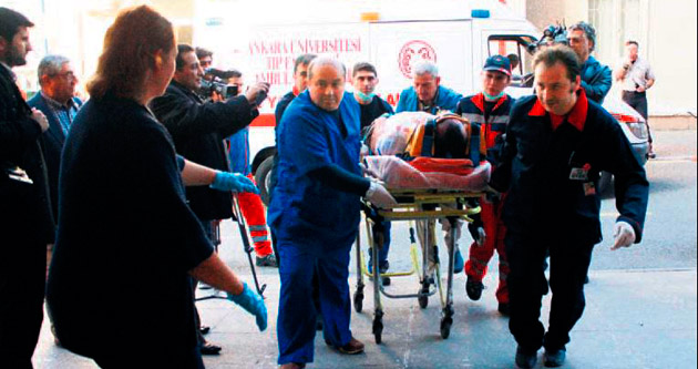 Hastanede tren kazası tatbikatı