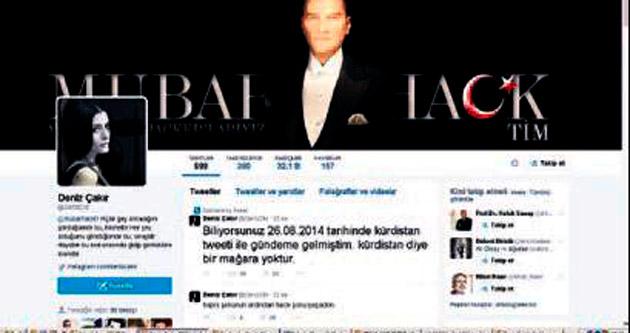 Deniz Çakır'ın Twitter hesabı hacklendi