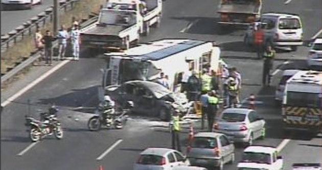 Trafik kazalarının ağır bilançosu