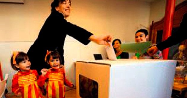 Katalanlar nihayet oy kullandı