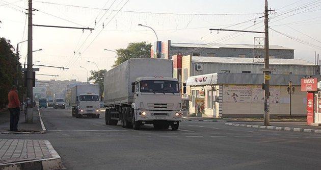 AGİT Ukrayna'ya giren konvoyda silah buldu
