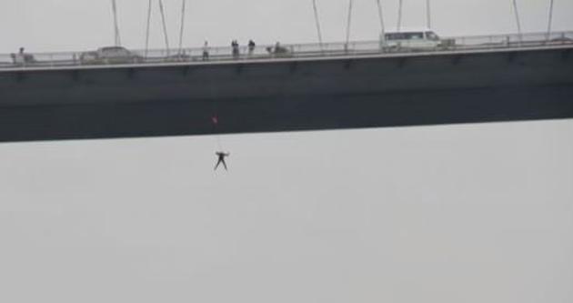 Boğaziçi Köprüsü'nden rekor atlayış