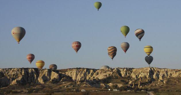 Kapadokya'yı 10 ayda 2 milyon 575 bin turist gezdi
