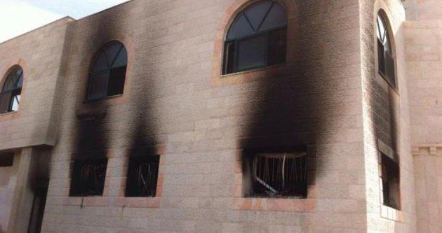 Yahudi yerleşimciler camiyi ateşe verdi