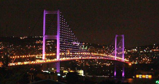 Boğaziçi Köprüsü mor renge bürünecek
