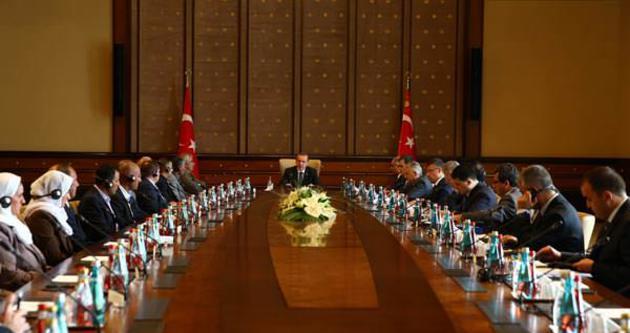 Cumhurbaşkanı Erdoğan, Ezidi heyeti ile görüştü