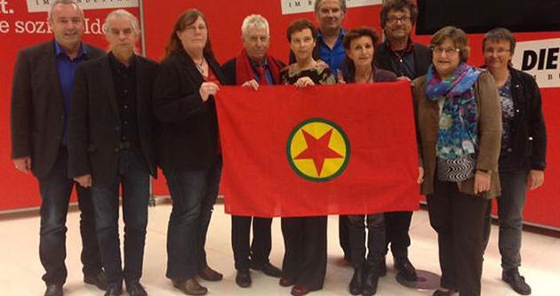 PKK destekçisi vekile destek eylemi!