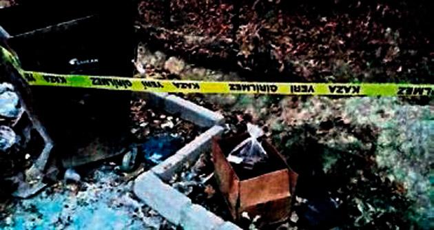 50 kilo dinamiti bulup çöpe attı