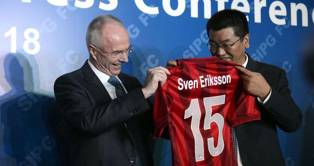 Eriksson, Şanghay SIPG ile anlaştı