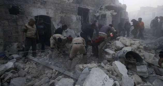 Halep'te 34 sivil hayatını kaybetti