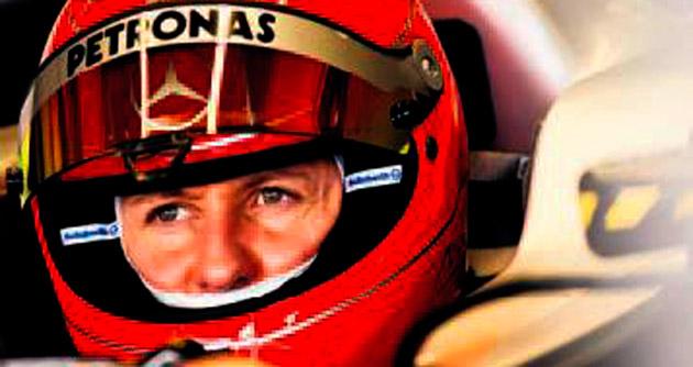 Michael Schumacher gözleri ile konuşuyor