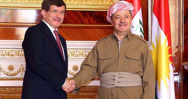Davutoğlu ve Barzani'den Erbil'de önemli açıklamalar
