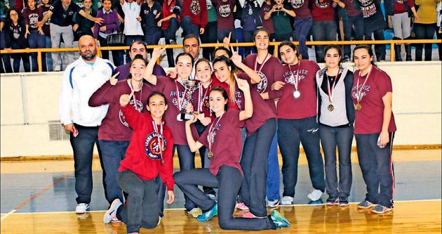 Kızlar basketbolda şampiyon Akdeniz