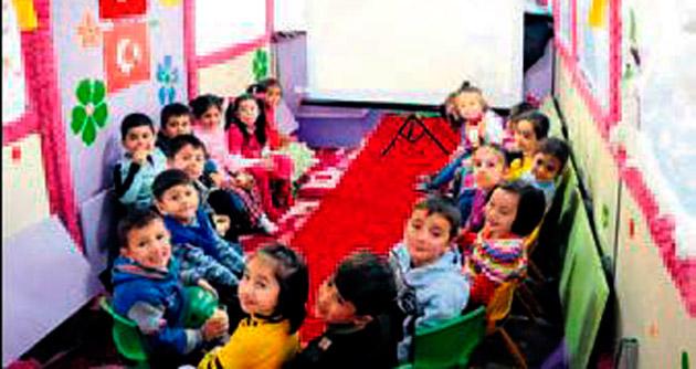 Mobil anaokulu Mamak yollarında