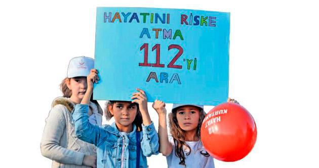 Çocuklar için 112 Farkındalık Günleri